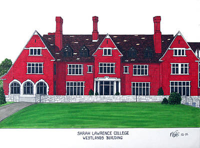 Drawing - Sarah Lawrence College by Frederic Kohli