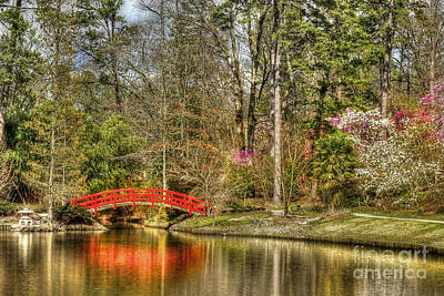 Garden Bridge Photograph - Sarah P. Duke Gardens by Benanne Stiens