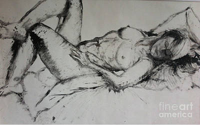 Nudes Painting - Sarah Sleeping by Michelle Deyna-Hayward