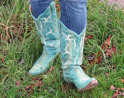 Photograph - Sarah's Boots by E Faithe Lester