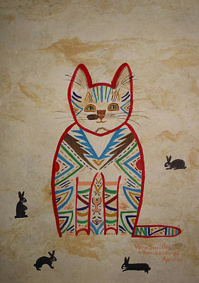Painting - Sarah's Cat by Vera  Smith