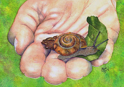 Painting - Sarah's Snail by Marie Stone Van Vuuren