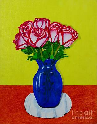 Art Print featuring the painting Sara's Roses by Melvin Turner
