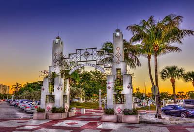 Florida Sunset Wall Art - Photograph - Sarasota Bayfront by Marvin Spates