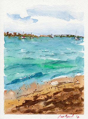 Watercolor Painting - Sarasota Beach by Max Good