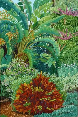Sarasota Garden Art Print by Beverly Theriault