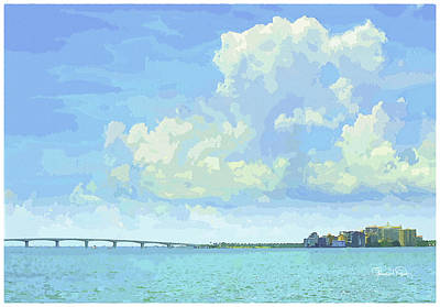 Sarasota Skyline From Sarasota Bay Art Print