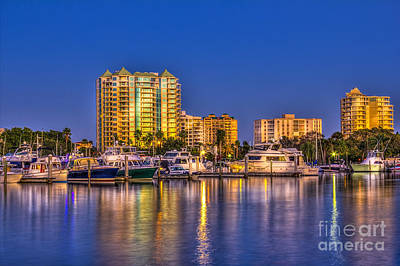 Channel Photograph - Sarasota Skyline by Marvin Spates
