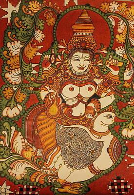 Traditional kerala mural paintings for sale for Asha mural painting