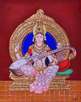 Painting - Saraswati by Pratyasha Nithin