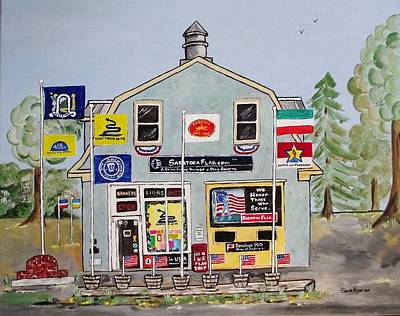 Hardware Painting - Saratoga Flag Company by Sandie Keyser