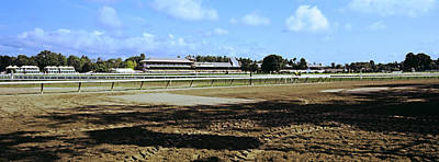 Saratoga Racecourse At Saratoga Art Print by Panoramic Images