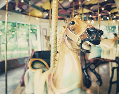 Horsey Photograph - Saratoga Springs Carousel From Kayaderosseras  by Lisa Russo