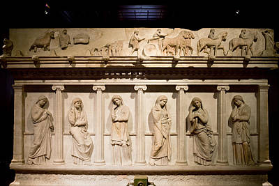 Marble Tomb-stones Photograph - Sarcophagus Of Mourning Women by Artur Bogacki