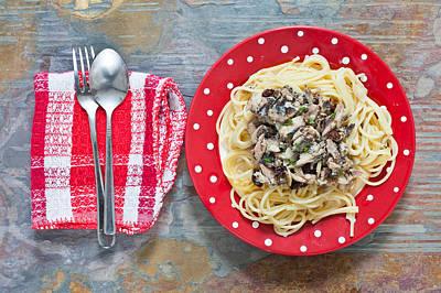 Sardines And Spaghetti Art Print by Tom Gowanlock