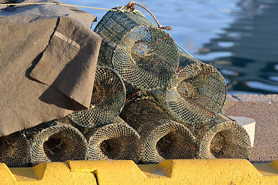 Wall Art - Photograph - Sardinian Crab Traps by Bill Mock