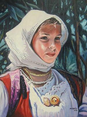 Painting - Sardinian Girl by Andrei Attila Mezei