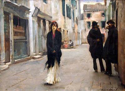 Sargent's Street In Venice Art Print