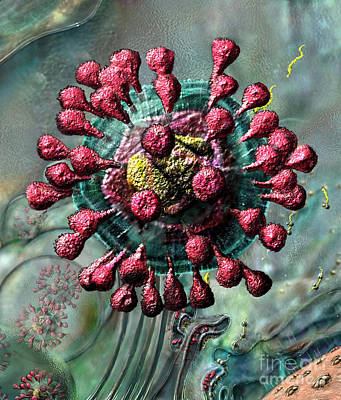 Digital Art - Sars Coronavirus by Russell Kightley
