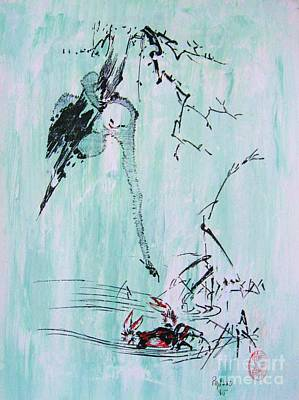 Saru Kani Kassen Art Print by Roberto Prusso