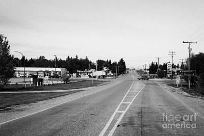 Saskatchewan Highway 21 Through The Town Of Leader Sk Canada Art Print by Joe Fox