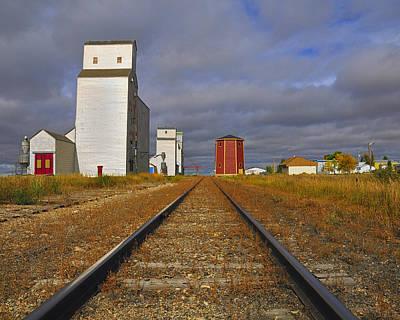 Train Tracks Photograph - Saskatchewan Prairies by Tony Beck