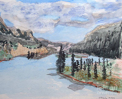 Composure Painting - Saskatchewan River Crossing - Icefields Parkway by R Kyllo