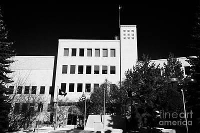 Saskatoon City Hall Saskatchewan Canada Art Print by Joe Fox