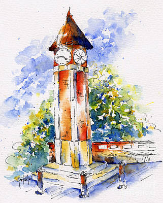 Painting - Saskatoon Clock Tower by Pat Katz