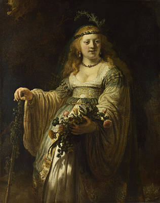 Painting - Saskia Van Uylenburgh In Arcadian Costume by Rembrandt