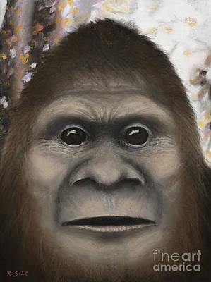 Bigfoot Painting - Sasquatch #4 by Rebekah Sisk