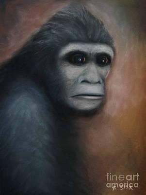 Bigfoot Painting - Sasquatch Bigfoot 5 by Rebekah Sisk