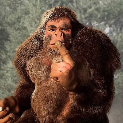 Bigfoot Digital Art - Sasquatch Shush by Daniel Eskridge