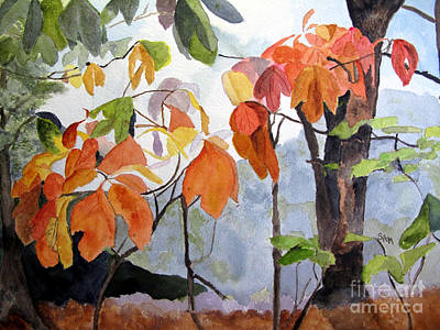 Sassafras Trees On The Ridge Art Print