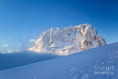 Gardena Photograph - Sassolungo Mountain Peak In Winter - Dolomites - Italy by Matteo Colombo