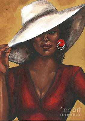 Art Print featuring the painting Sassy by Alga Washington