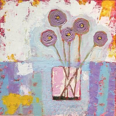Sassy Alliums Original by Jacquie Janzen