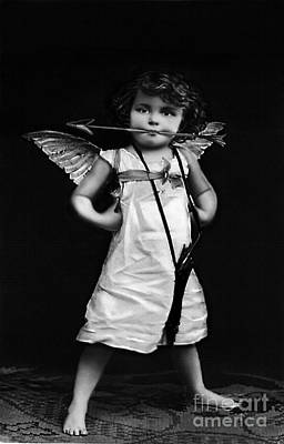 Photograph - Sassy Cupid Bw by Lesa Fine