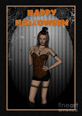 Digital Art - Sassy Halloween by JH Designs