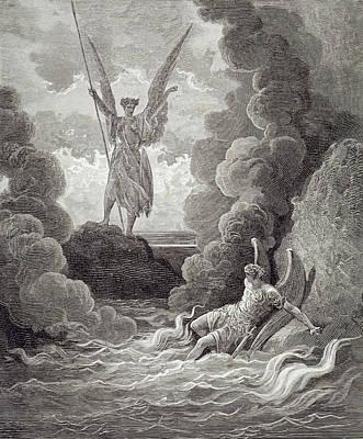 Satan And Beelzebub Art Print by Gustave Dore