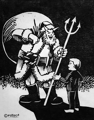 Painting - Satan Santa by Glenn Pollard