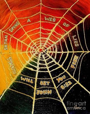 Satan's Web Of Lies Art Print