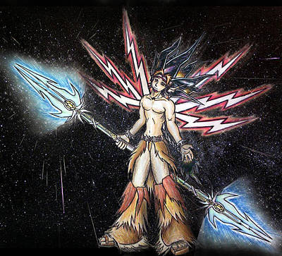 Satari God Of War And Battles Art Print