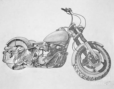 Two Wheeler Drawing - Satchels by Stephen Brooks