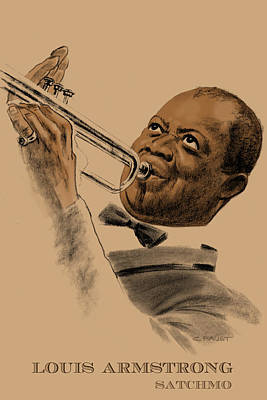 Drawing - Satchmo by Clifford Faust