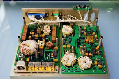 Component Photograph - Satellite Circuit Boards by Mark Williamson