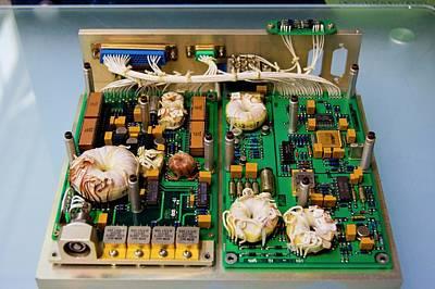 Satellite Circuit Boards Art Print