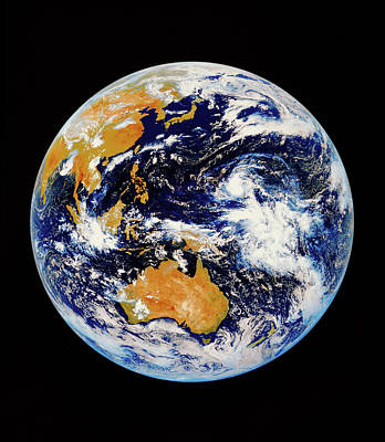 Satellite Image Of Australasia Art Print by Kevin A Horgan/science Photo Library
