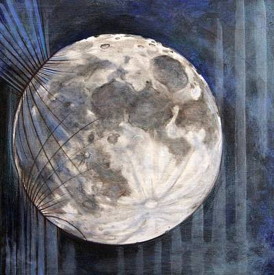 Luna Mixed Media - Satellite  by Stacey Sherman
