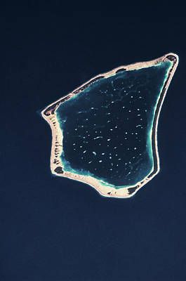 Satellite Views Photograph - Satellite View Of A Group Of Islands by Panoramic Images